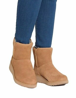 5ed48cded73 NEW UGG WOMEN'S 1012497 Chestnut Kristin Wedge Classic Slim Boots Shoes