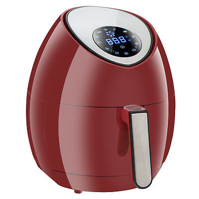 Red 1500W Digital Air Fryer with Rapid Air Technology Touch Screen 4L Deep Fryer