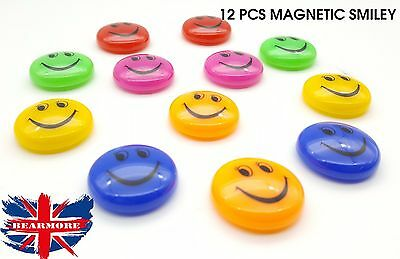 Smiley Face Magnetic Fridge Heavy Magnets Washing Machine Office Whiteboard 12Pc