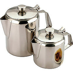 Sunnex Teapot - Stainless Steel 48oz/1.5L Strong hinge & well fitted lid
