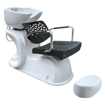 Hair Furniture Honey Comb Stylish Backwash Unit with Deep White Basin&Foot Rest
