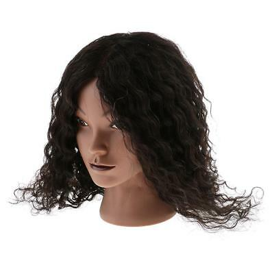 Cosmetology Silicone Practice Training Mannequin Manikin Head w/ Human Hair