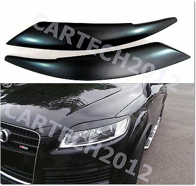 Fits Audi Q7 2006-2015 Headlight Eyebrows, Eyelid Covers, ABS PLASTIC tuning
