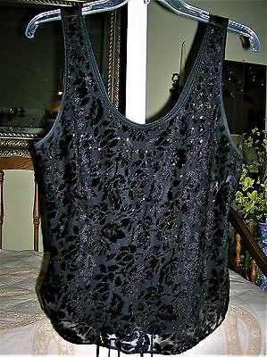❤ Fancy Holiday Black Tank/shell ❤ Perfect For Any Party ❤ Size M 36❤ Versatile