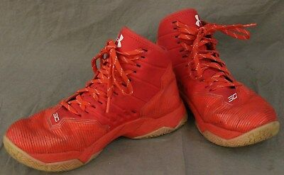 5ea623a9e0c UNDER ARMOUR Size 5.5Y Boys Girls Red White Curry 2.5 Basketball Sneaker  Shoes