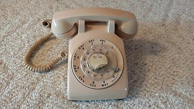 Vintage Rotary Phone Made by Western Electric for Bell Systems  Fully Tested Tan