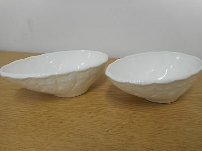 A Pair of Vintage Crown Staffordshire Surrey Collection Avocado Dishes -VGC