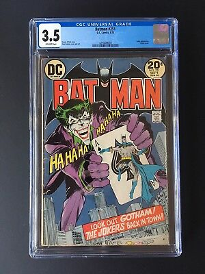 Batman #251 *joker App. Classic Cover Key Issue* Dc 1973 Cgc Vg- 3.5