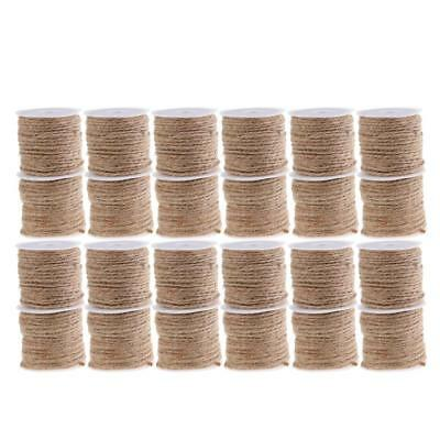 Rustic Jute Burlap Hessian Ribbon String Rope Cord Craft Gardening Gift Wrap