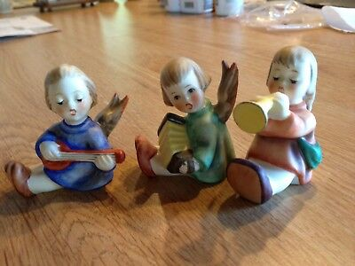 GOEBEL Hummel Three Angels Figurines, W. Germany, Excellent!