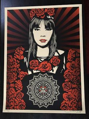 OBEY / Shepard Fairey: Rose girl, print signed