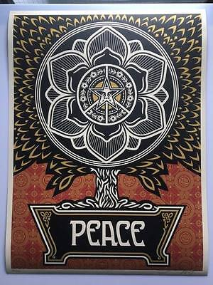 OBEY / Shepard Fairey: Peace tree Gold, print 2007