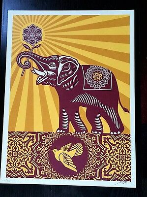 OBEY / Shepard Fairey: Peace elephant, holiday edition