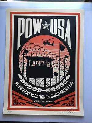 OBEY / Shepard Fairey: Pow USA print signed