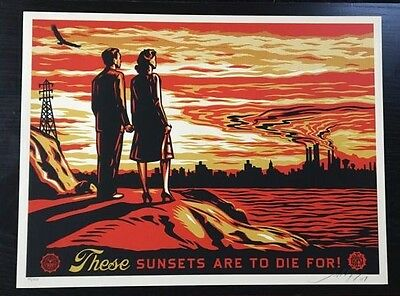 OBEY / Shepard Fairey: These sunsets are to die for, print signed
