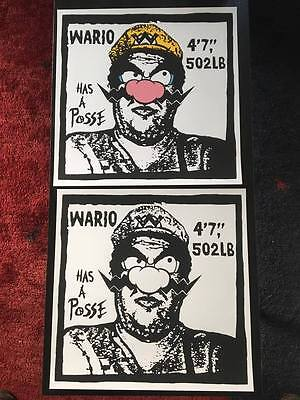 Nate Duval, Wario has posse, set 2x prints, signed prints OBEY