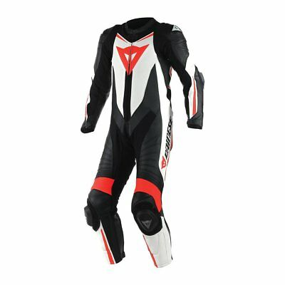 Dainese Laguna Seca D1 1-pc Perforated Suit Black/White/Fluo Red