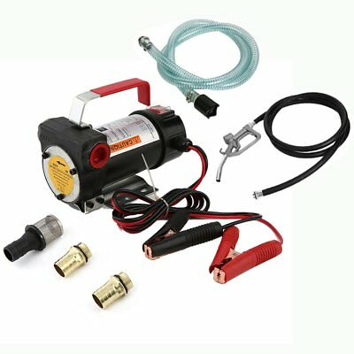12V Portable Oil Diesel Fluid Transfer Pump Electric Extractor Auto Cut Speed OM