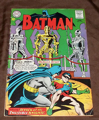 Batman 172 Attack of the Invisible Knights G+/VG a gem