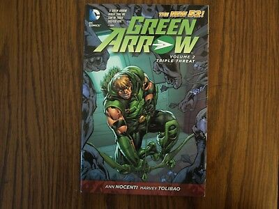 DC New 52 TPB Graphic Novel Green Arrow: Thriple Threat Vol. 2