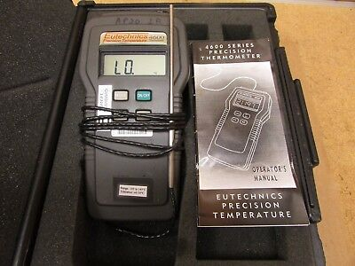 Eutechnics 4600 3NG.2.1 Precision Thermometer with Probe, Operator's Manual
