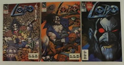 Vintage DC Comic Book Magazine Lot LOBO Issues 1 2 4 1990 Copper Age Griffen 3PC