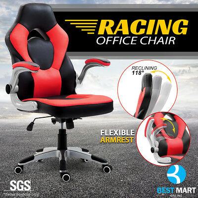 NEADER Racing Gaming Chair Reclining Swivel Ergonomic Computer Chair Desk Red