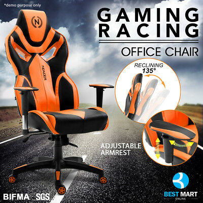 NEADER Reclining Executive Racing Gaming Office Chair Ergonomic Computer Desk