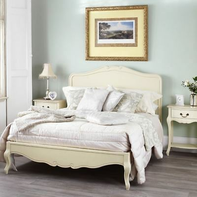 Juliette Shabby Chic Champagne 6FT Super King Bed, Cream French bed frameQUALITY