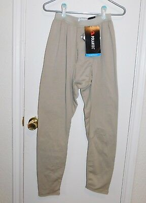 US Army ECWCS Gen3 L2 Cold Weather Grid Fleece Tan Midweight Bottom Sm/Reg NWT