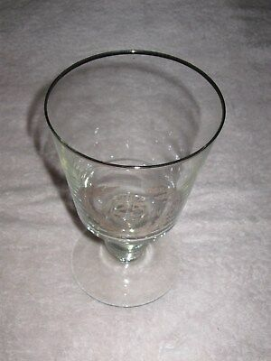 """CLEARANCE - Vintage Crystal Glass Goblet 25th Anniversary - 6"""" Height"""