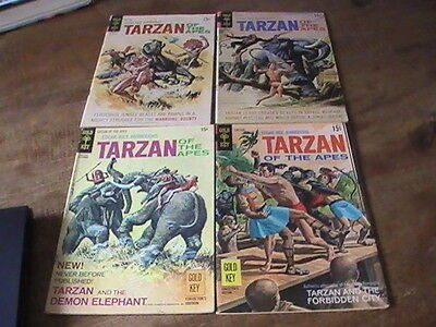 Tarzan of the Apes #190,197,203,205 lot of 4 Gold Key comics, 1970's