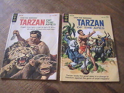 Tarzan of the Apes #138(vg-),139(gd-), of 2 Gold Key comics, 1963