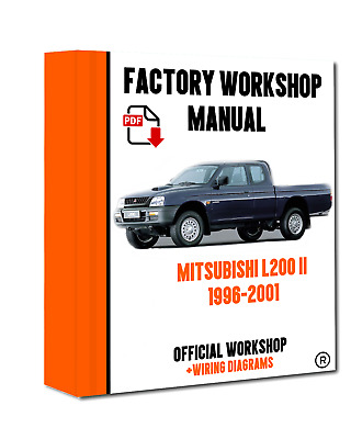 official workshop service repair manual for mitsubishi l200 1997 rh picclick co uk Mitsubishi L200 4x4 Engine Mitsubishi L200 Diesel Pickup