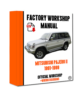 official workshop manual service repair mitsubishi pajero ii 1991 rh picclick co uk