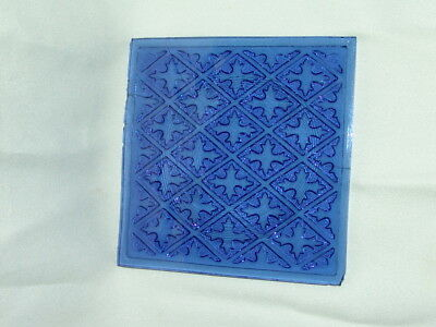 Victorian  Addison Ny New York Pressed Stain Glass Window Pane Tile