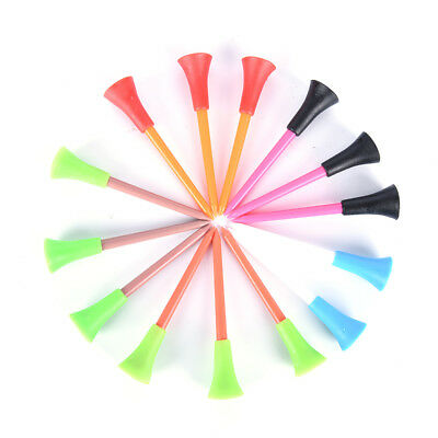 50 x Multi Color Plastic Golf Tees 72mm Durable Rubber Cushion Top Golf Tee Hot