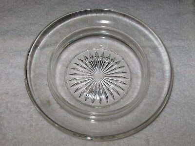 """CLEARANCE - Antique Vintage Small Pressed Glass Dish - 7 1/4"""" Diameter"""