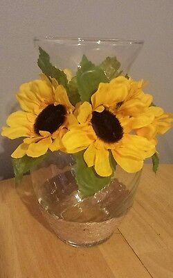 sunflower glass vase