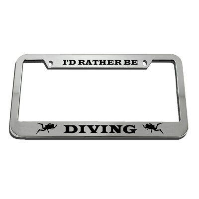 I/'D RATHER BE IN LINCOLN License Plate Frame Tag Holder