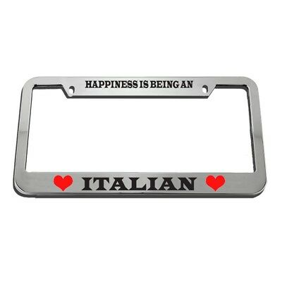 VINTAGE LICENSE PLATE Frame Happiness Is Being Italian - $45.00 ...