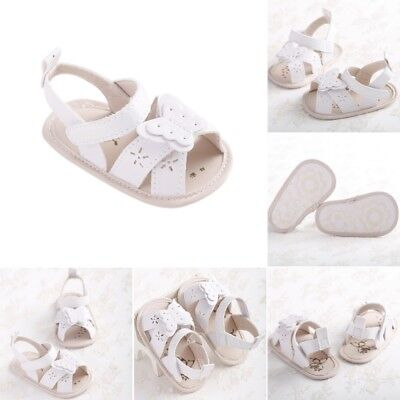 Summer Toddler Baby PU Leather Butterfly Hollow Sandal Shoes Casual Prewalker AU