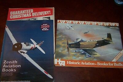 Lot of 3 1980s MILITARY AVIATION BOOK Catalogs; Zenith, Historic Aviation