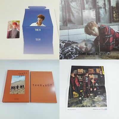 SEVENTEEN 2nd album Teen, Age CD Photobook Photocard Folded poster KPOP Orange t