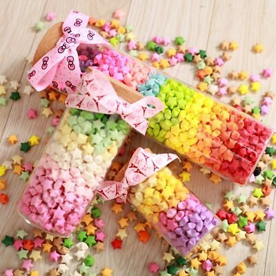 540Pcs Origami Lucky Star Paper Strips Folding Paper Ribbons Multicolor DIY Gift