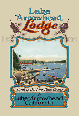 Lake Arrowhead Lodge - 1930's Advertising Poster
