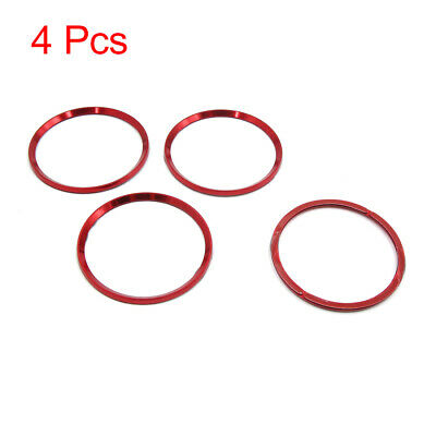 4Pcs Red Aluminum Alloy Wheel Centre Hub Ring Decorative Circle Fit for Audi