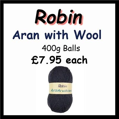Robin Aran with Wool 400g balls 25% Wool (3426) (postage £3.00 any quantity)