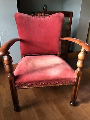 Antique Occasional Bedroom Edwardian Armchair