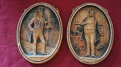 Pair Of Vintage Plaques/ Pictures